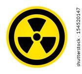 radioactivity sign  | Shutterstock . vector #154520147