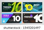 set of top 10 rating banner... | Shutterstock .eps vector #1545201497