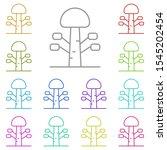 tree multi color icon. simple... | Shutterstock .eps vector #1545202454