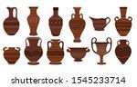 Greek Clay Pots. Illustration...