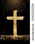Gold Prayer Cross Realistic...