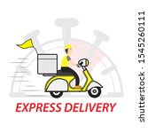 express delivery service... | Shutterstock . vector #1545260111