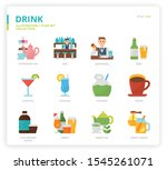drink icon set for web design ... | Shutterstock .eps vector #1545261071