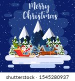 a house in a snowy christmas... | Shutterstock .eps vector #1545280937