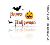 happy halloween | Shutterstock .eps vector #154529087