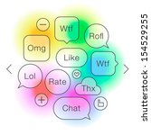 social network symbols in... | Shutterstock .eps vector #154529255