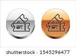 black line cinema ticket icon... | Shutterstock .eps vector #1545296477