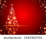 modern abstract christmas tree... | Shutterstock .eps vector #1545303701