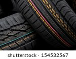 closeup of tires | Shutterstock . vector #154532567