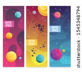 universe vector brochure cards. ...