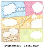 comic template vector    Shutterstock .eps vector #154535024