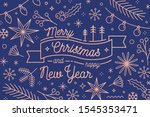 merry christmas and happy new... | Shutterstock .eps vector #1545353471