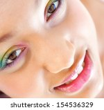 over head close up beauty... | Shutterstock . vector #154536329