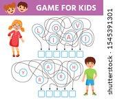 game for kids. learning words... | Shutterstock .eps vector #1545391301