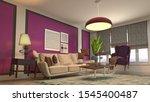 zero gravity sofa hovering in... | Shutterstock . vector #1545400487