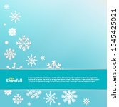 winter blue background with... | Shutterstock .eps vector #1545425021
