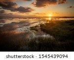 Sunrise Over Kirton Marsh With...