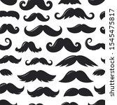 black sillhouettes of moustache ...   Shutterstock .eps vector #1545475817