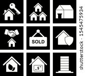 9 real estate icons for... | Shutterstock .eps vector #1545475934