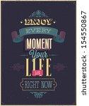"Vintage ""enjoy Every Moment""..."