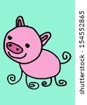 cute pig cartoon clip art  | Shutterstock . vector #154552865