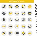 icons set about automotive.... | Shutterstock .eps vector #154558589