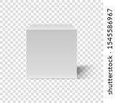 white cube. cubic box 3d...   Shutterstock .eps vector #1545586967