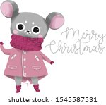 Gray Mouse In A Pink Jacket A...