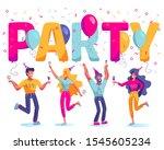 group of happy  joyful people...   Shutterstock . vector #1545605234