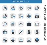 icons set about economy. flat...