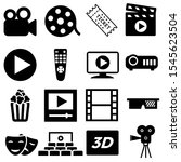 movie vector icon set. cinema... | Shutterstock .eps vector #1545623504