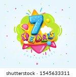 happy birthday kids... | Shutterstock .eps vector #1545633311