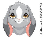 a cartoon portrait of a cute... | Shutterstock .eps vector #1545641204