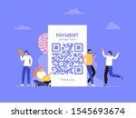 qr code scanning vector...