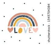 decorative colorful stripy...   Shutterstock .eps vector #1545704384