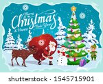 christmas and new year greeting ... | Shutterstock .eps vector #1545715901