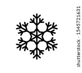 black snowflake icon isolated... | Shutterstock .eps vector #1545721631