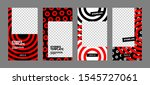 set of minimalistic stories for ... | Shutterstock .eps vector #1545727061