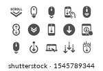 scroll down icons. scrolling... | Shutterstock .eps vector #1545789344