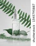 natural organic oil in a bottle ... | Shutterstock . vector #1545795887