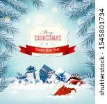 holiday christmas background... | Shutterstock .eps vector #1545801734