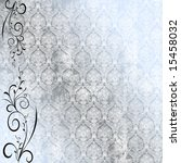 Antique Wallpaper With Floral...