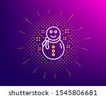 christmas snowman line icon....   Shutterstock .eps vector #1545806681