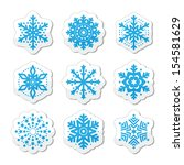 christmas or winter snowflakes... | Shutterstock .eps vector #154581629