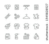 laundry related icons  thin...   Shutterstock .eps vector #1545828527
