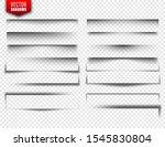 vector shadows set. page...   Shutterstock .eps vector #1545830804