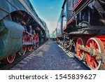 Between Wagons Of Old Trains ...