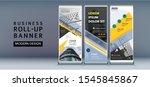 business blue banner roll up ...   Shutterstock .eps vector #1545845867