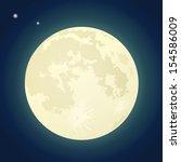 Full Moon On A Dark Blue Sky....