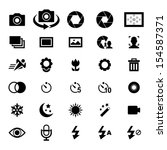 camera icon set | Shutterstock .eps vector #154587371